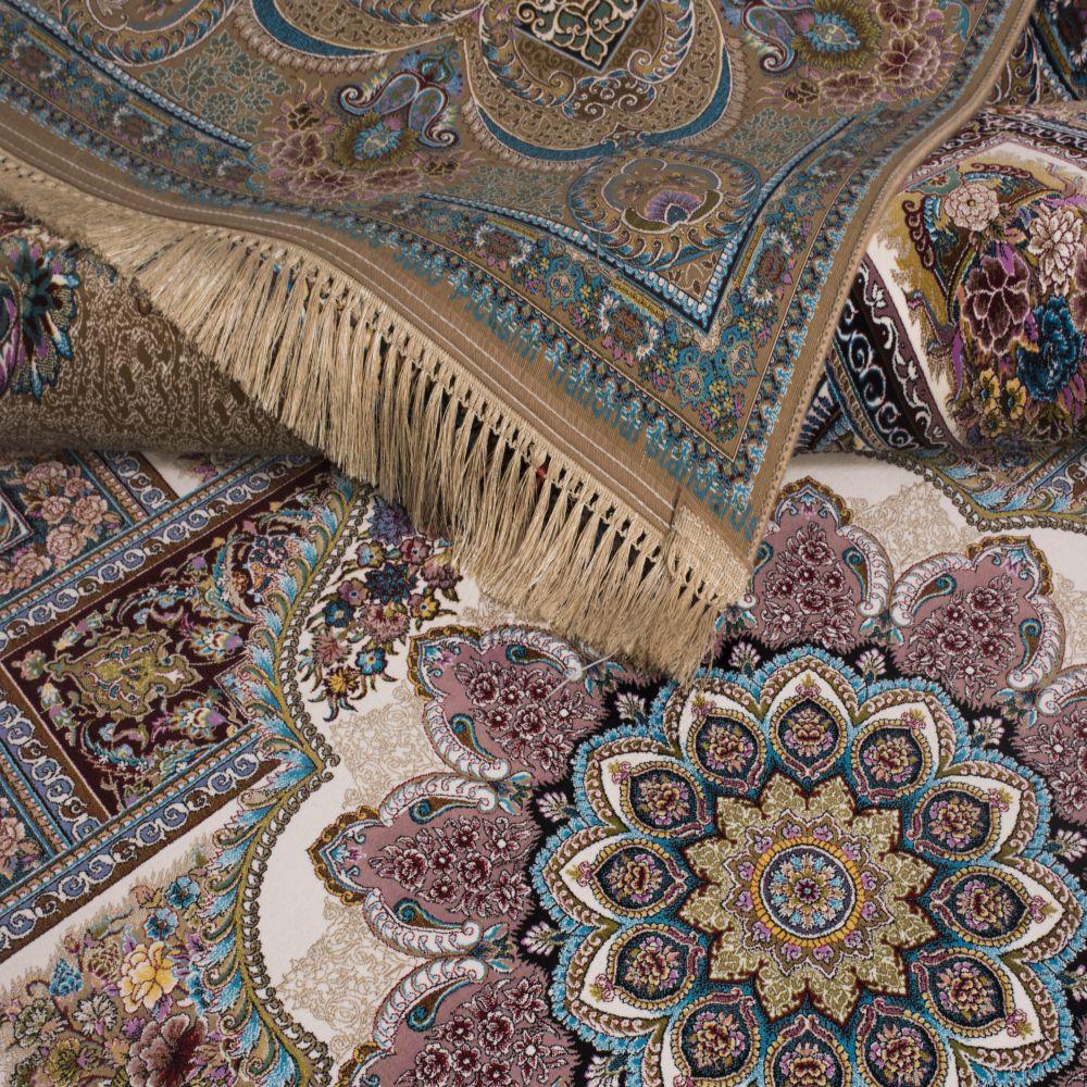 فرش ماشینی حوض نقره نسکافه ای 3