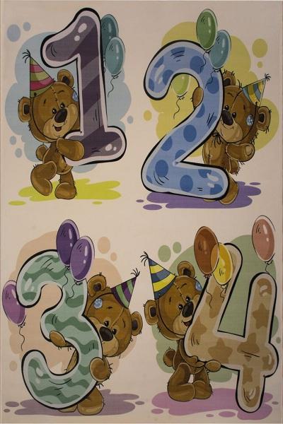 فرش کودک با طرح اعداد