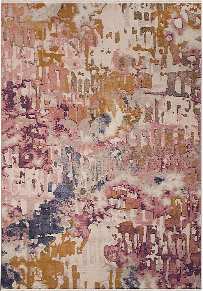 فرش فانتزی کلاریس 100393 صورتی