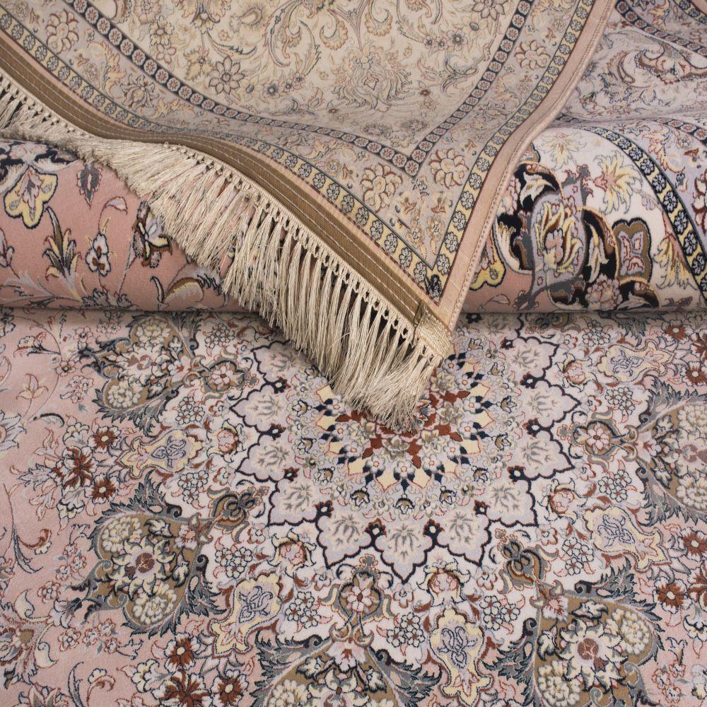 فرش ماشینی 1304 صورتی 3