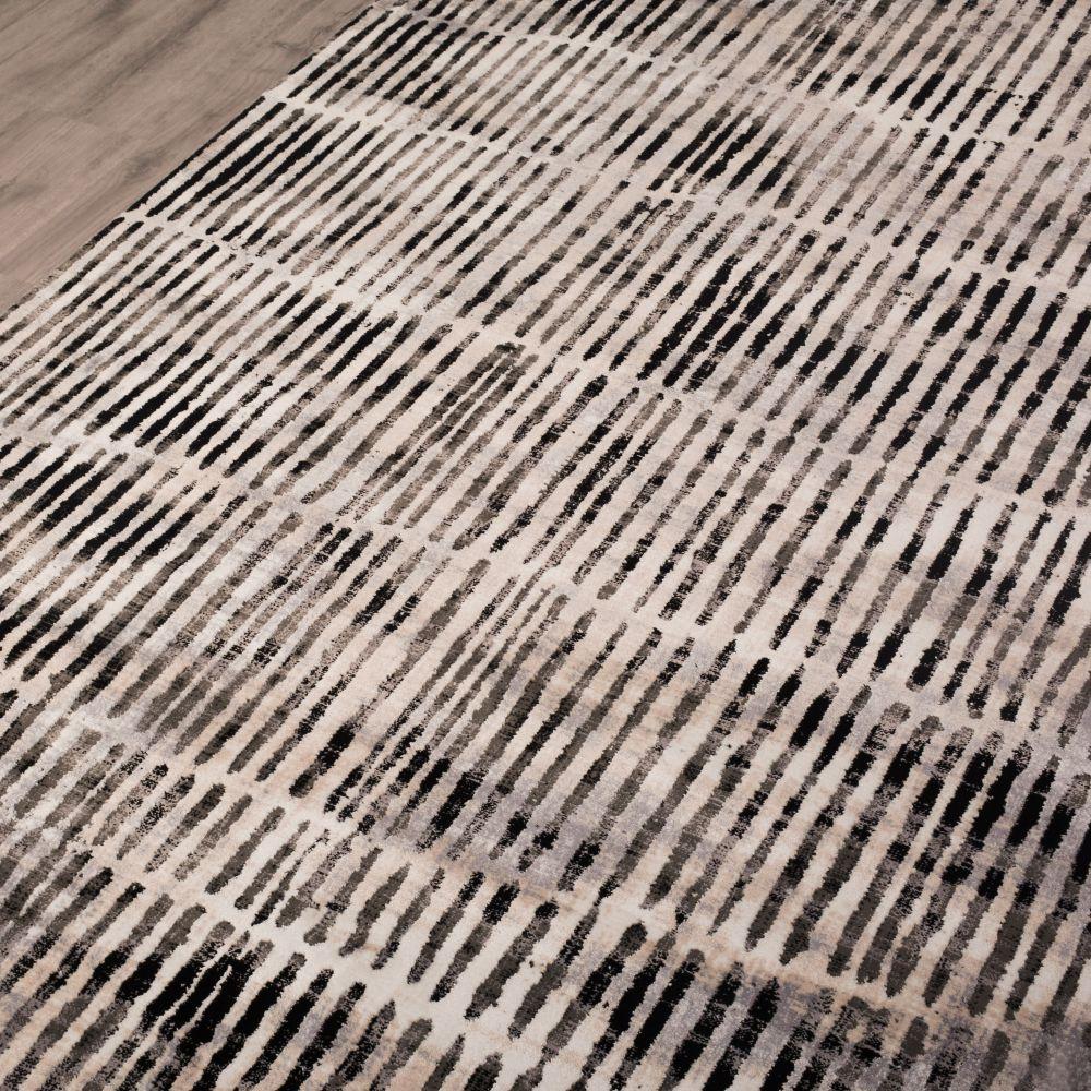 فرش مدرن وینتج 53265 نقره ای 3