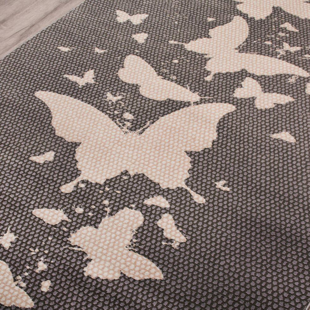 فرش فانتزی 53267 نقره ای 2