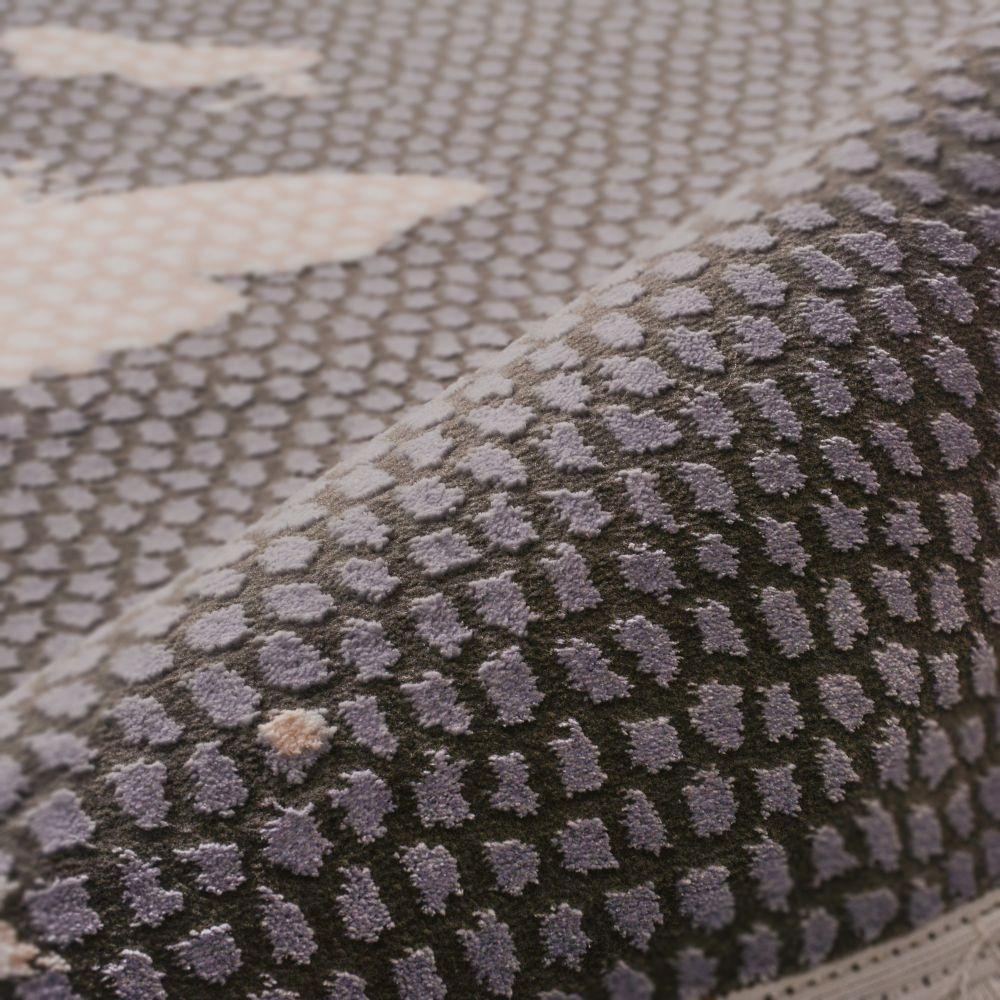 فرش فانتزی 53267 نقره ای 3