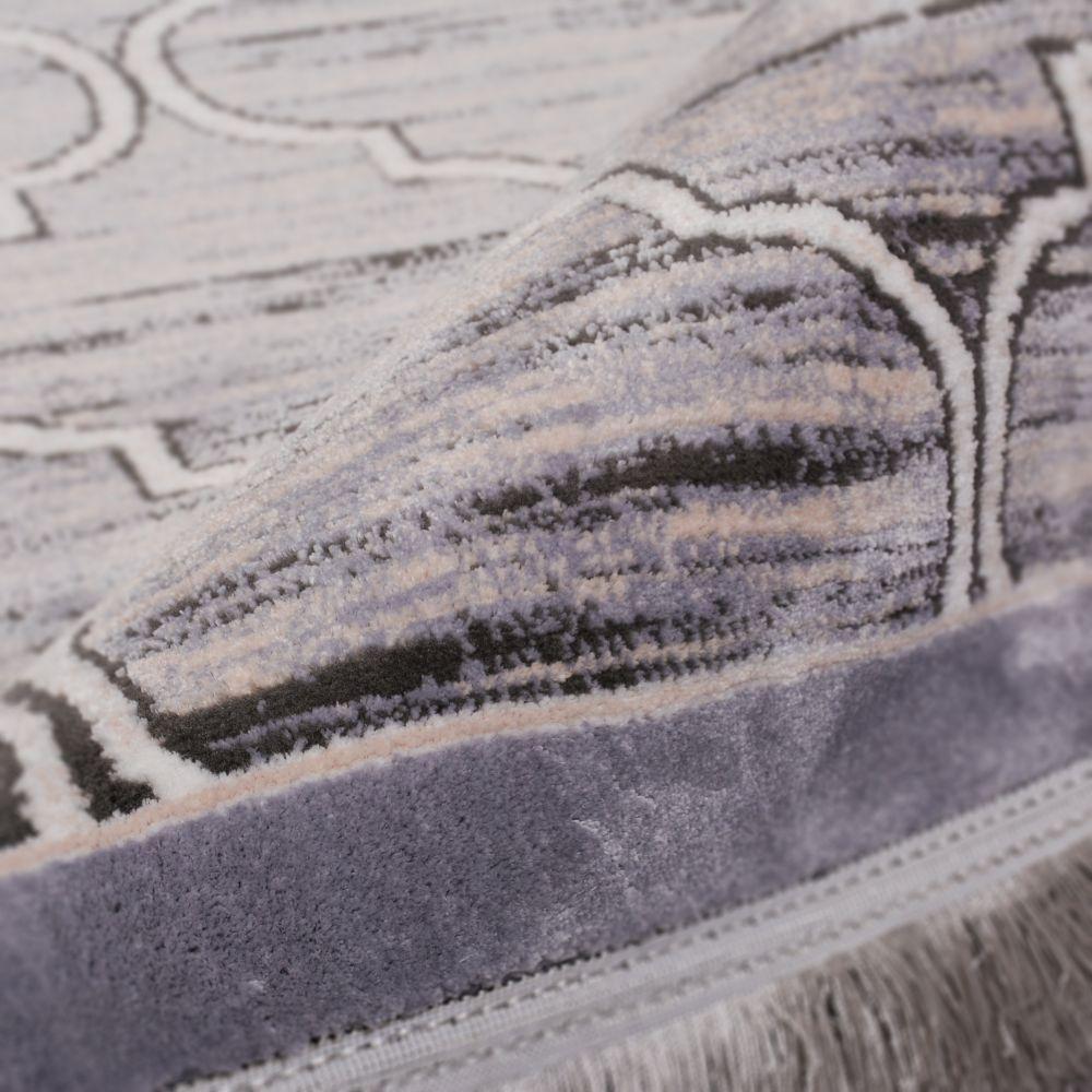 فرش فانتزی 53903 نقره ای 3