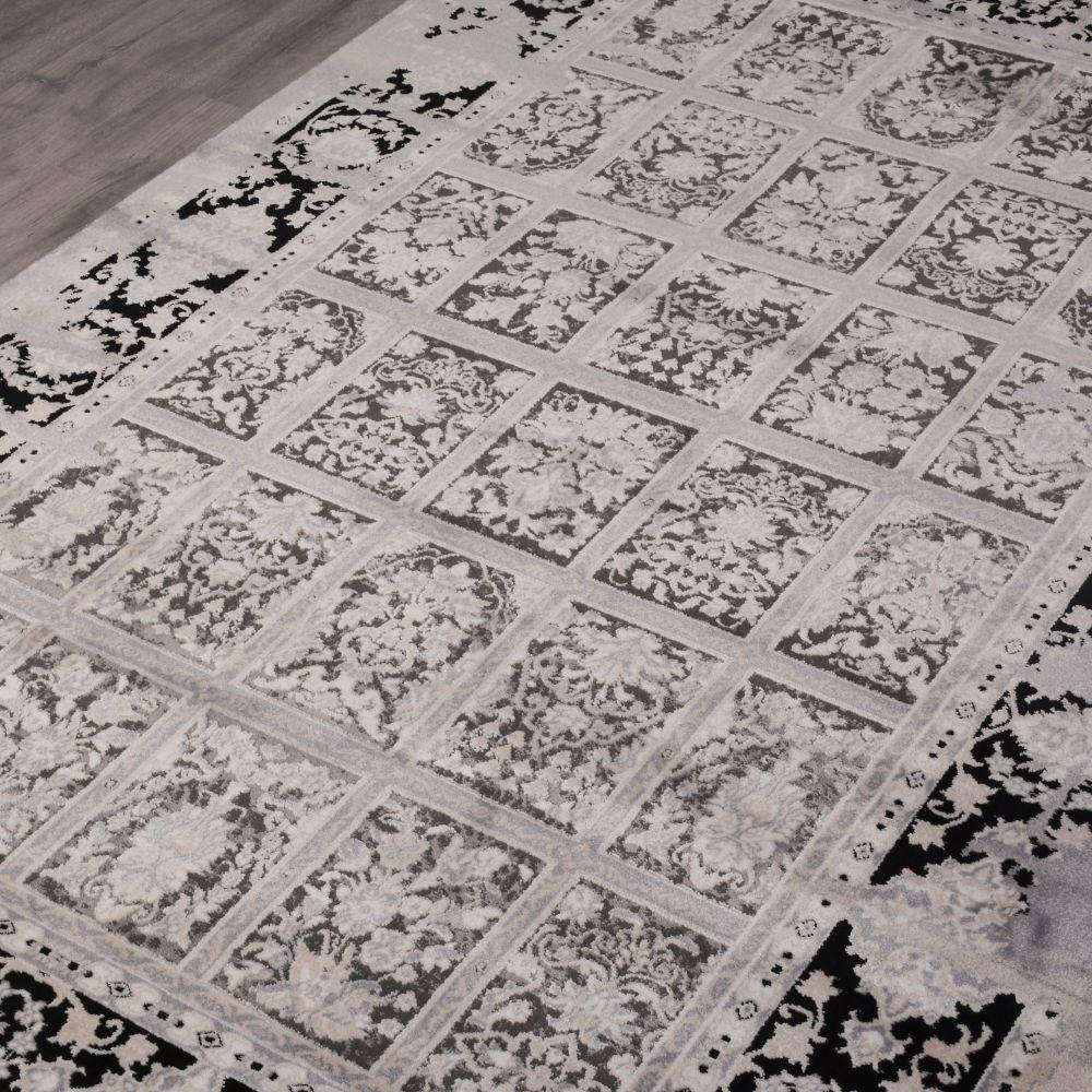 فرش مدرن وینتیج 53929 نقره ای 3