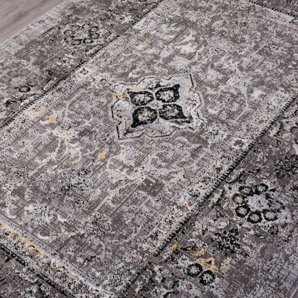 فرش مدرن وینتیج 53930 نقره ای 2
