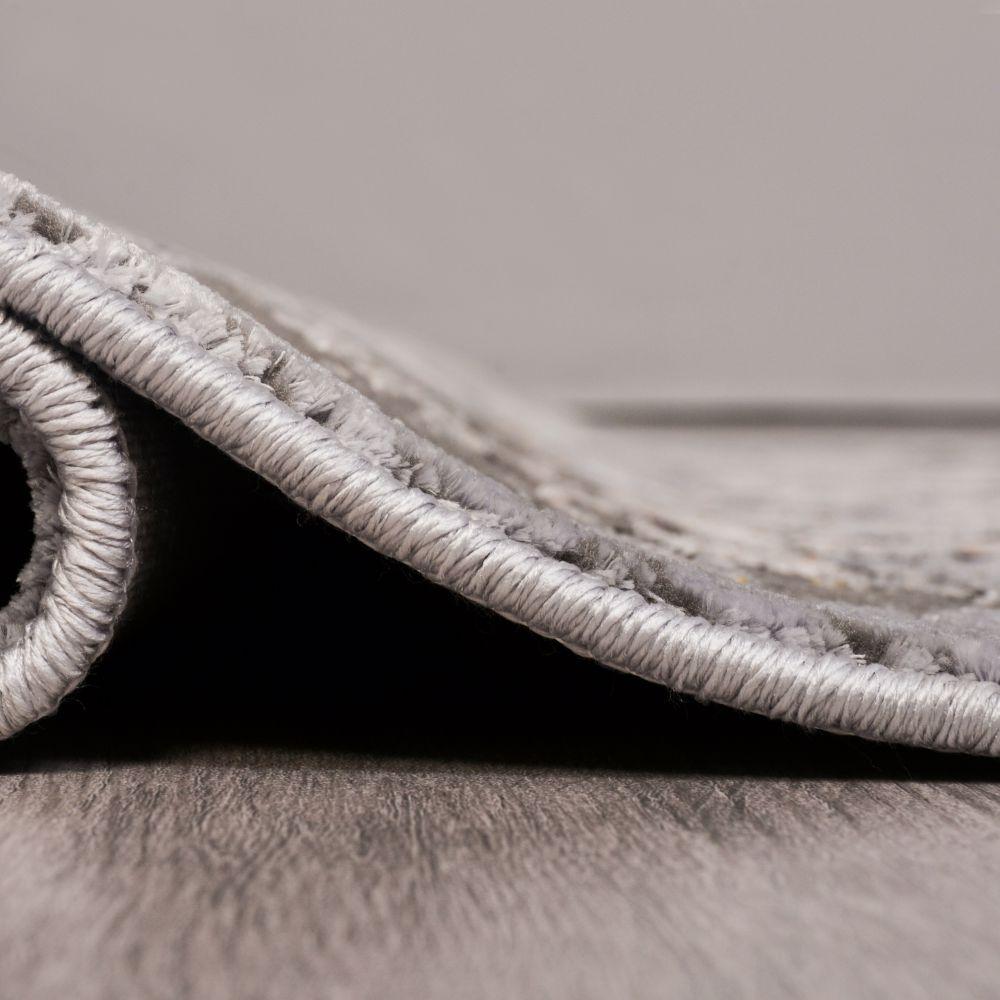 فرش مدرن وینتیج 53930 نقره ای 3
