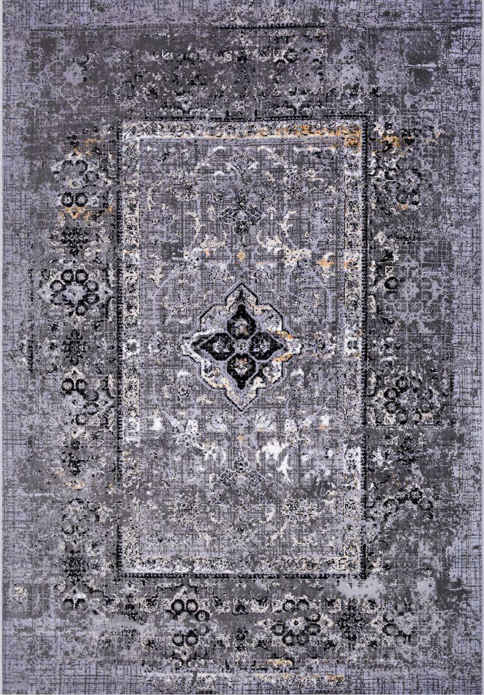 فرش مدرن وینتیج 53930 نقره ای