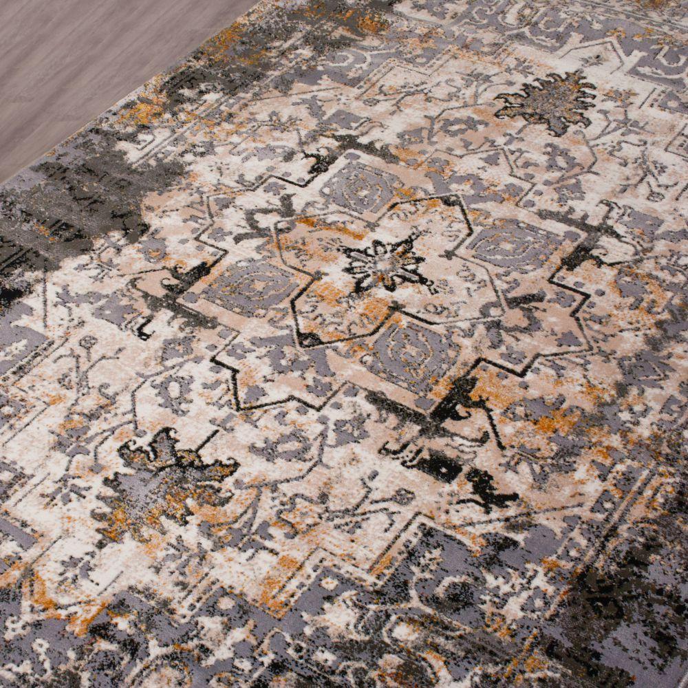 فرش مدرن وینتیج 53932 نقره ای 3