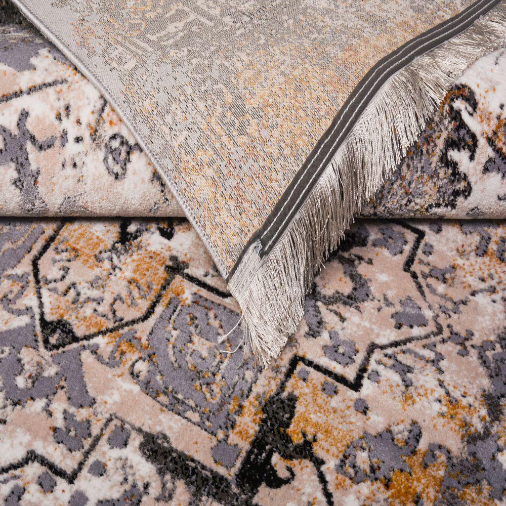 فرش مدرن وینتیج 53932 نقره ای 5
