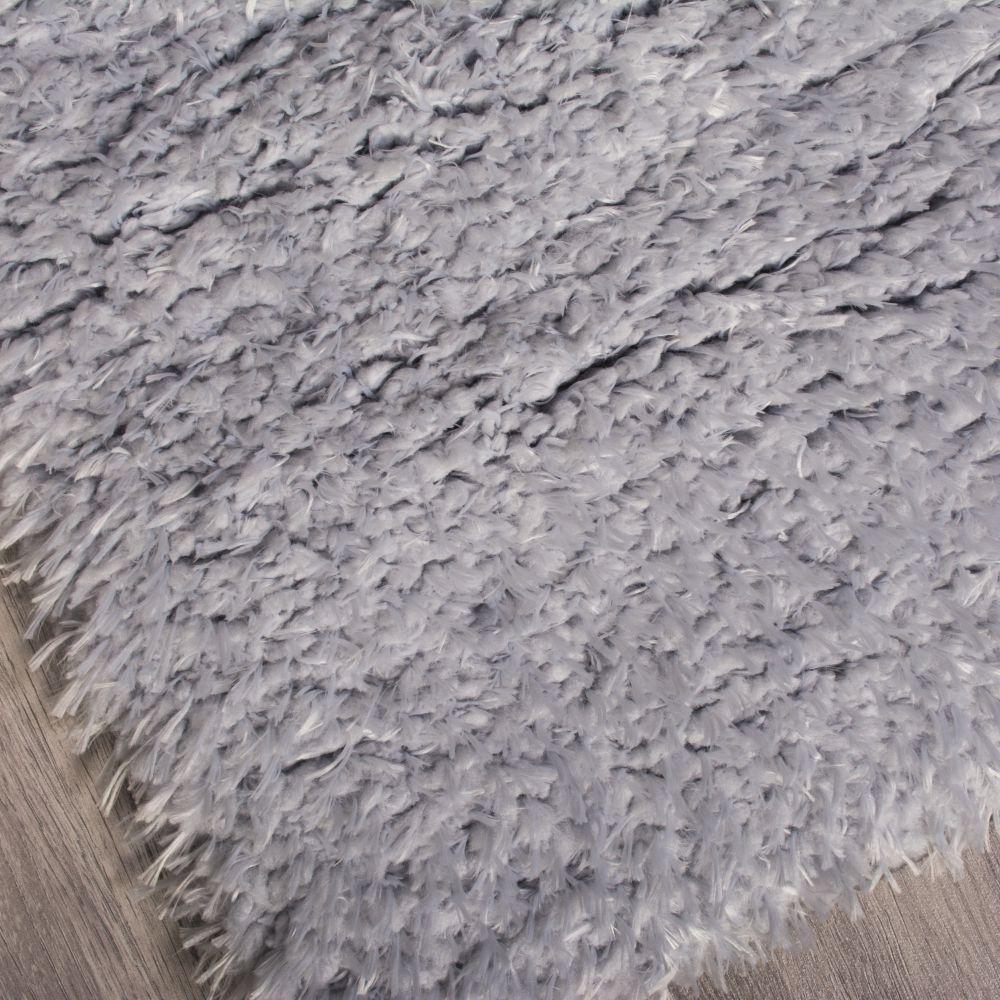فرش شگی فلوکاتی نقره آبی 3