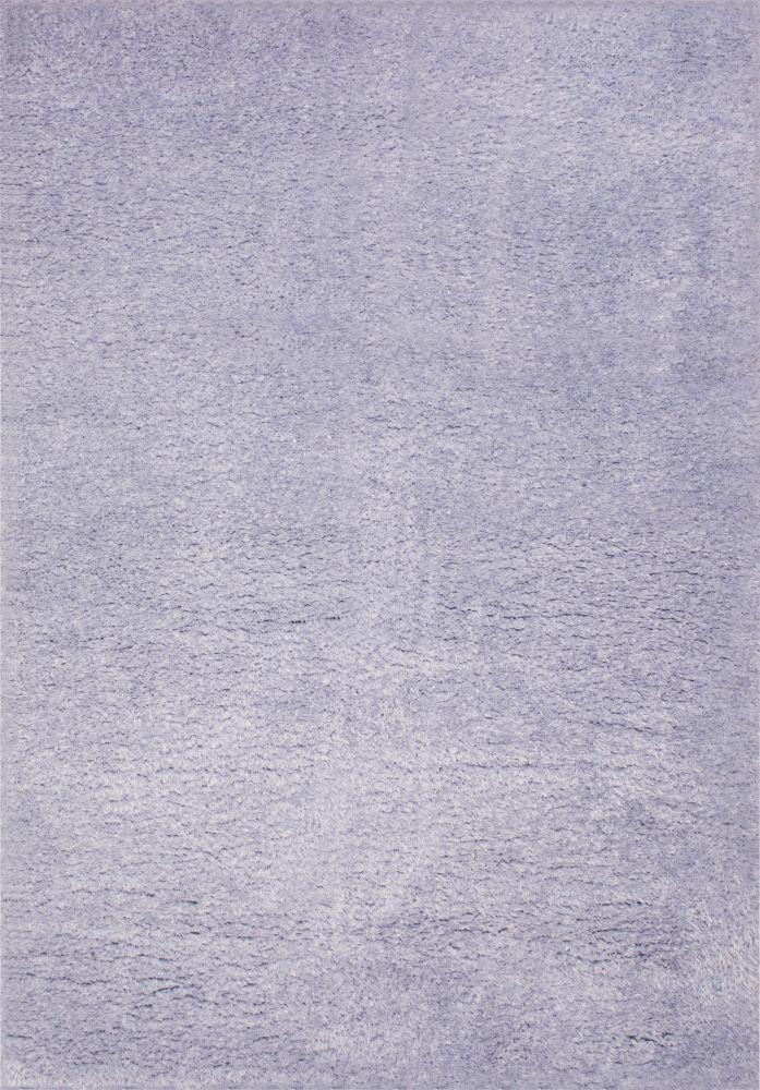 فرش شگی فلوکاتی نقره آبی
