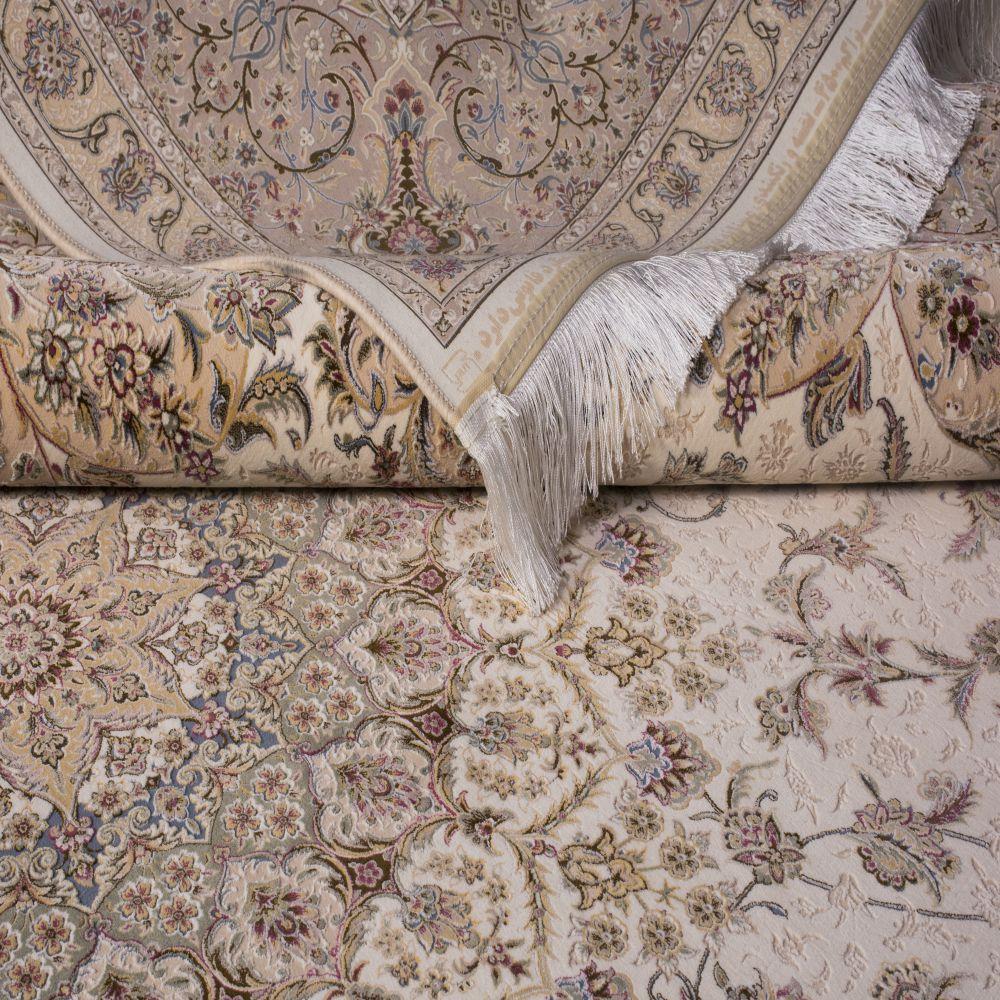 فرش ماشینی مستانه کرم سفید 3