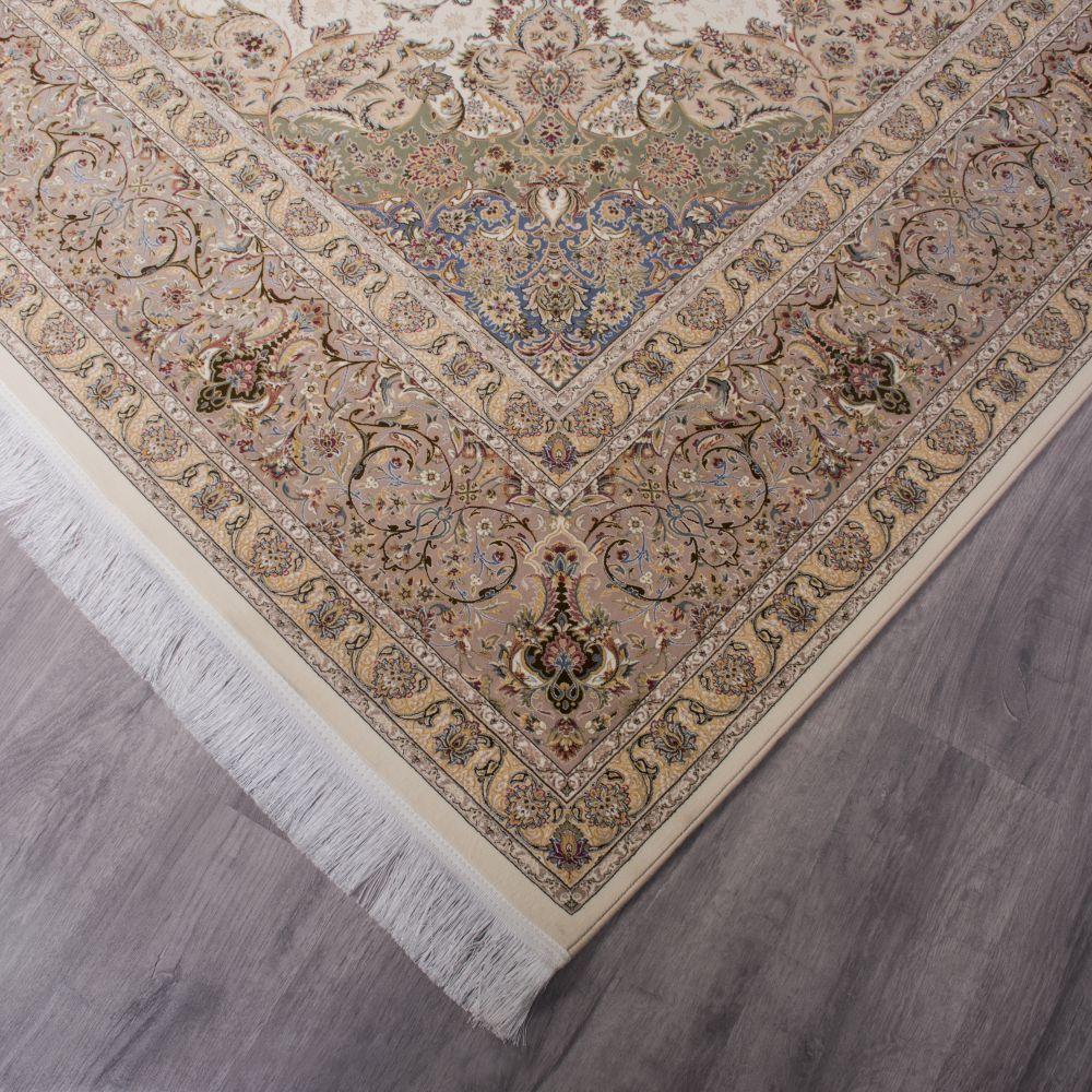 فرش ماشینی مستانه کرم سفید 4