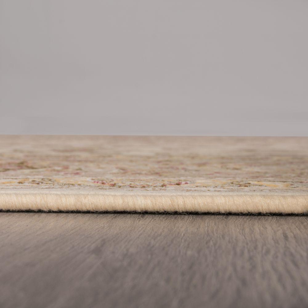 فرش ماشینی مستانه کرم سفید 5