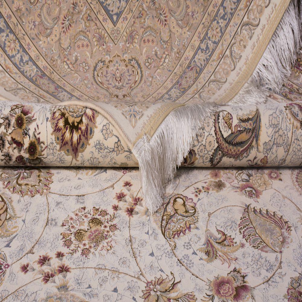 فرش ماشینی افشان سلطنتی کرم سفید 3