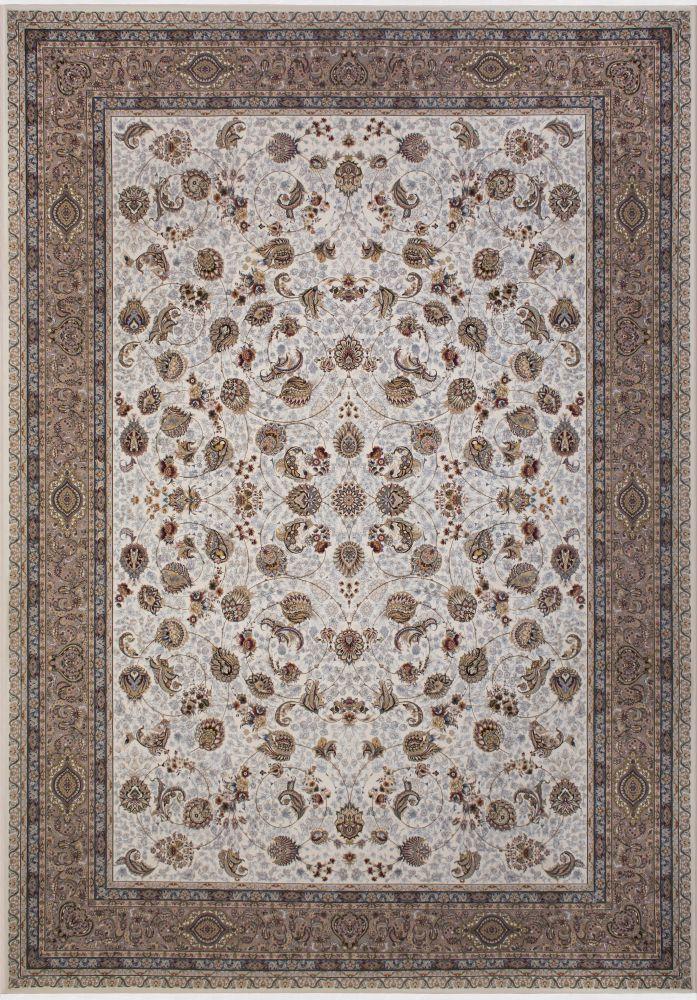 فرش ماشینی افشان سلطنتی کرم سفید