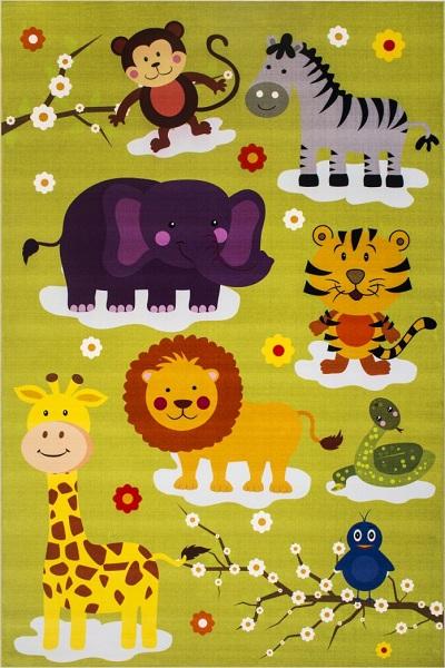 فرش با طرح باغ وحش